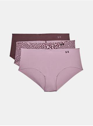 Kalhotky Under Armour PS Hipster 3Pack Print- růžová