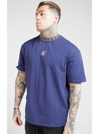 Tmavě modré pánské tričko  Essential Collar Tape Silk Sik