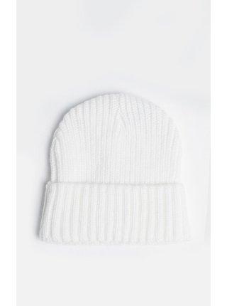 Bílá čepice BEANIE CUFF RIB