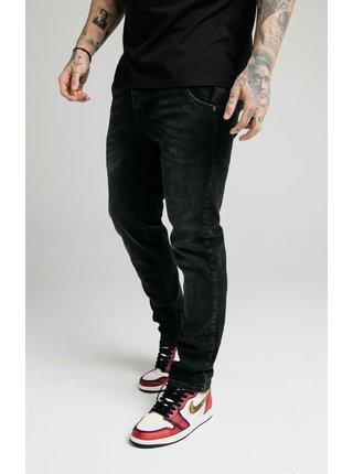 Černé pánské straight fit džíny  DENIM RECYCLED CUT STRAIGHT