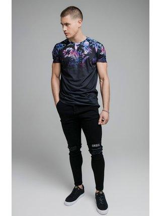 Černé pánské květované tričko  TEE FADE HIGH HAWAII S/S