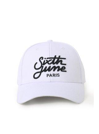 Bílá dámská kšiltovka CAP LOGO JUNE SIXTH