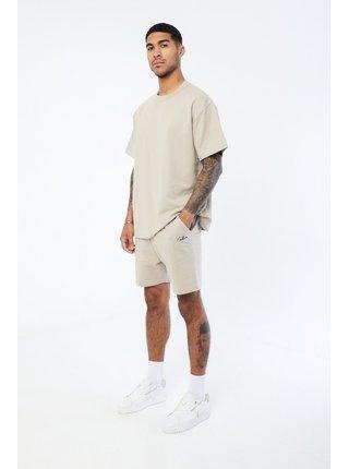 Béžové pánské tričko  T-SHIRT FIT RELAXED ESSENTIAL