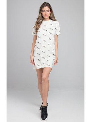 Bílé vzorované šaty DRESS T-SHIRT PRINT REPEAT