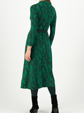 Zelené dámske vzorované midi šaty Blutsgeschwister Healing herbs
