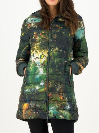 Tmavozelená dámska dlhá prešívaná bunda s motívom Blutsgeschwister Deep forest