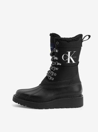 Černé dámské kozačky Calvin Klein