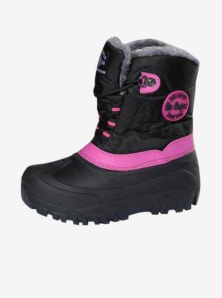 Růžovo-černé holčičí boty Lee Cooper