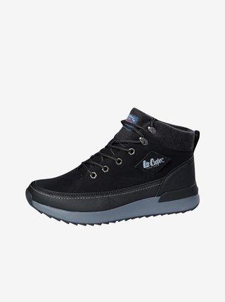 Černé pánské kotníkové boty Lee Cooper