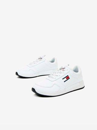 Bílé pánské kožené tenisky Tommy Jeans