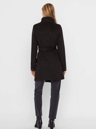 Černý zimní kabát s příměsí vlny VERO MODA Two dope