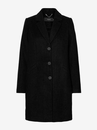 Černý kabát VERO MODA CURVE Cindy