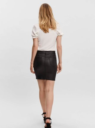 Černá sukně s povrchovou úpravou VERO MODA Faith