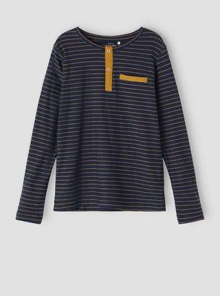 Tmavě modré klučičí pruhované tričko name it Valentin