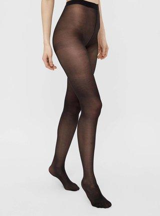 Černé punčochové kalhoty Pieces New Nikoline