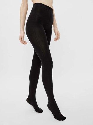 Černé punčochové kalhoty Pieces Kaya