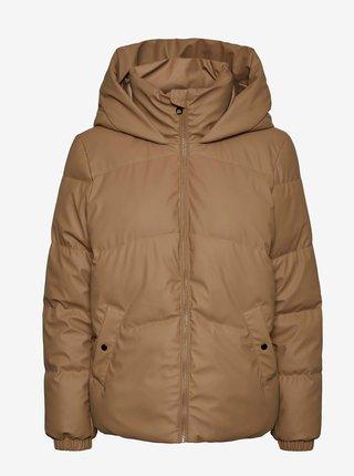 Hnědá prošívaná zimní bunda VERO MODA Greta