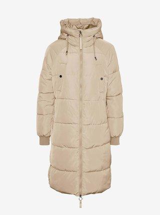 Béžová prešívaná zimní bunda VERO MODA Aura