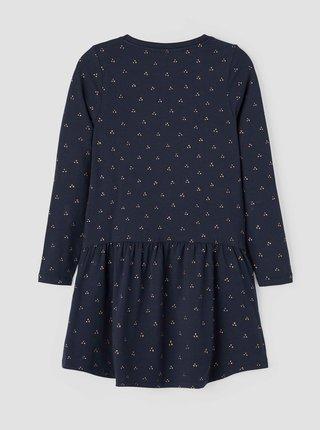 Tmavě modré holčičí vzorované šaty name it Vivian