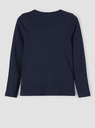 Tmavě modré holčičí tričko s motivem name it Nisika