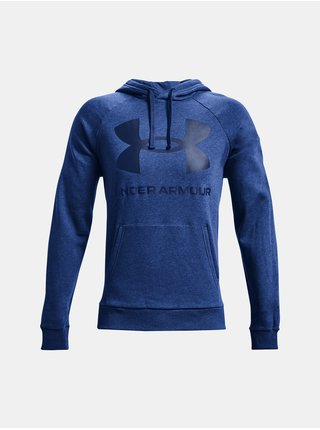 Mikina Under Armour UA Rival Fleece Big Logo HD- modrá