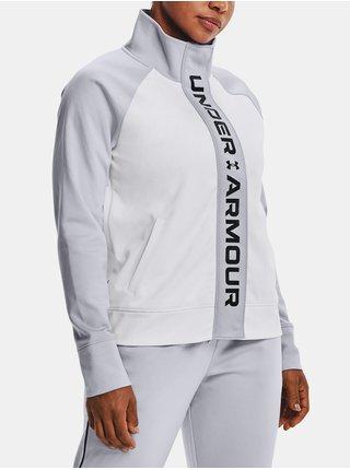 Bunda Under Armour Rush Tricot Jacket- bílá
