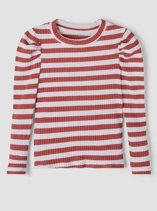 Červeno-bílé holčičí pruhované tričko name it Namilla