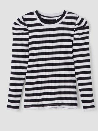 Černo-bílé holčičí pruhované tričko name it Namilla