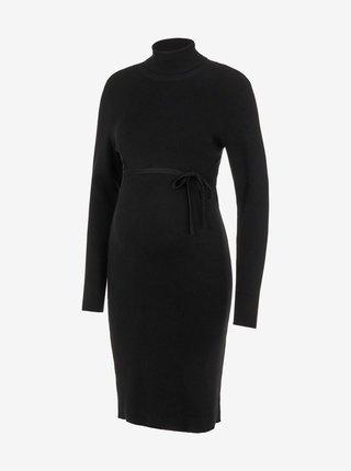 Čierne tehotenské svetrové šaty Mama.licious Jacina
