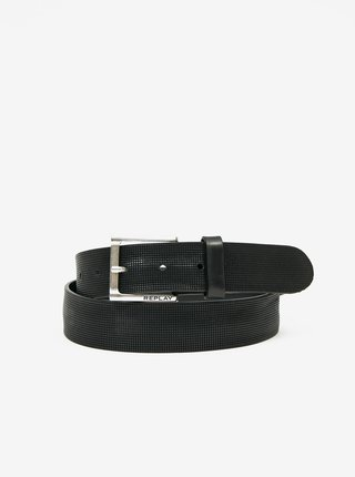 Čierny pánsky kožený opasok Replay