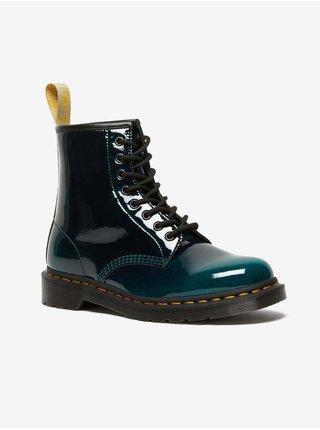 Tmavozelené unisex členkové topánky Dr. Martens 1490 Hdw