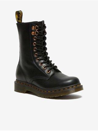 Černé dámské kotníkové kožené boty Dr. Martens 1460 Pascal Hdw
