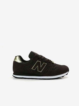 Černé dámské semišové boty New Balance 373