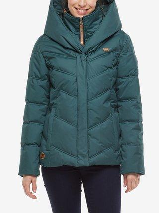 Petrolejová dámská zimní bunda s kapucí Ragwear Natesa