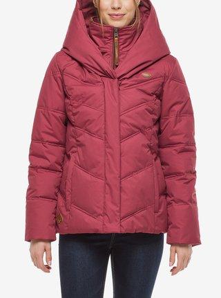 Vínová dámská zimní bunda s kapucí Ragwear Natesa