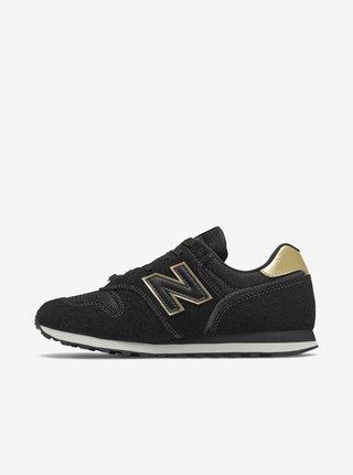 Zlato-černé dámské semišové boty New Balance 373