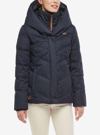 Tmavě modrá dámská zimní bunda s kapucí Ragwear Natesa