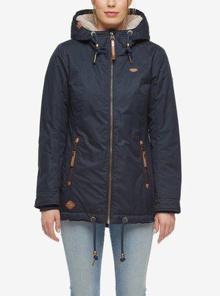 Tmavomodrá dámska zimná bunda s kapucou Ragwear Zuzka