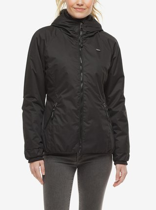 Černá dámská zimní bunda s kapucí Ragwear Dizzie