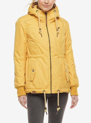 Žlutá dámská zimní bunda s kapucí Ragwear Danka