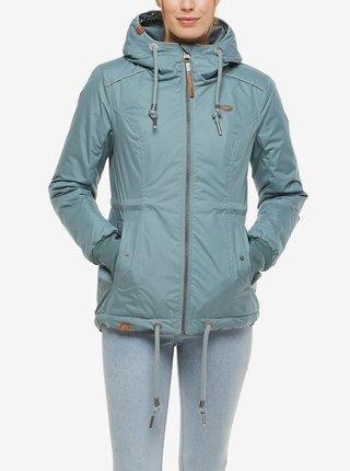 Světle modrá dámská zimní bunda s kapucí Ragwear Danka