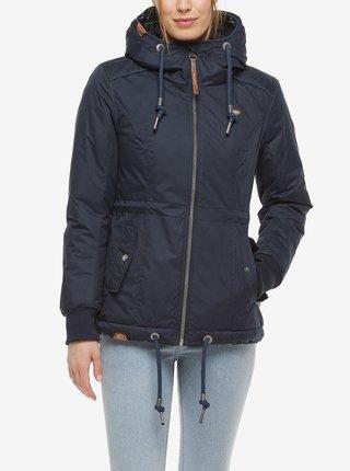 Tmavě modrá dámská zimní bunda s kapucí Ragwear Danka