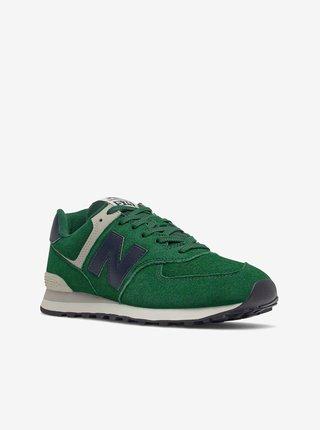 Zelené pánské semišové boty New Balance 574
