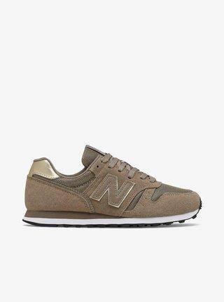 Hnědé dámské semišové boty New Balance 373