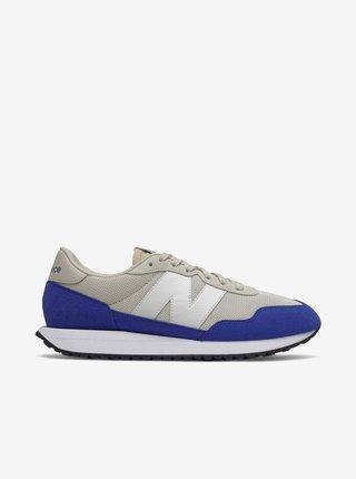Modro-šedé pánské boty v semišové úpravě New Balance 237