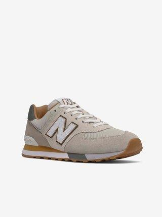 Béžové pánské semišové boty New Balance 574