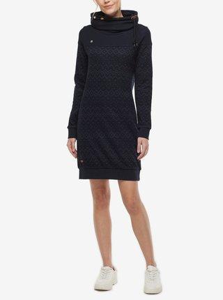 Tmavomodré dámske vzorované mikinové šaty Ragwear Chloe Dress