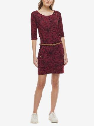 Vínové dámske vzorované šaty Ragwear Tanya Print