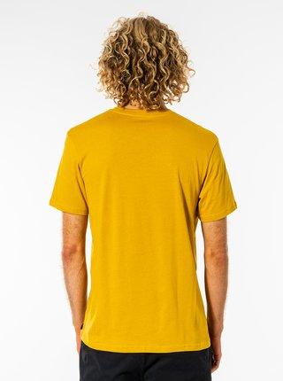 Žlté pánske tričko s potlačou Rip Curl