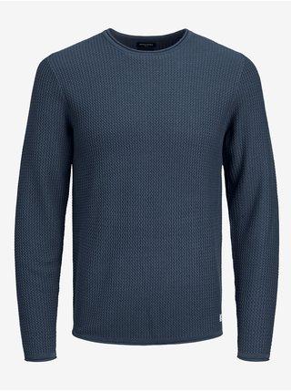 Tmavě modrý svetr Jack & Jones Carlos